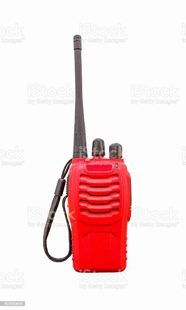 Portable radio sets isolated stock photo