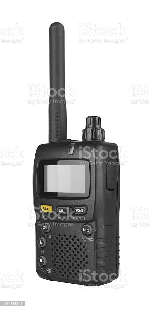 Portable radio transceiver stock photo