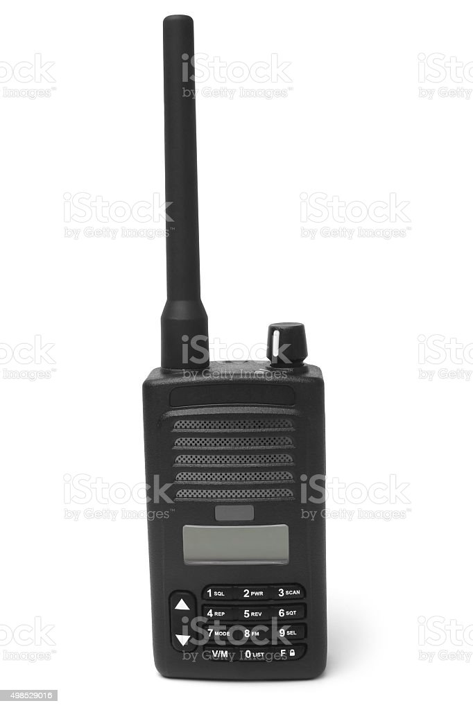 Portable radio transmitter stock photo