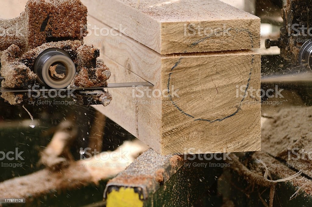 Portable Sawmill stock photo