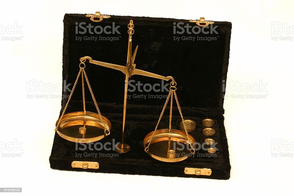 Portable scales royalty-free stock photo