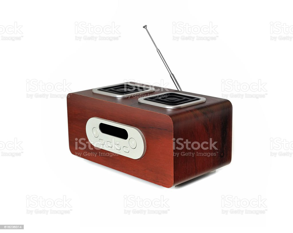 Portable Speaker With FM Radio & MP3 Player stock photo
