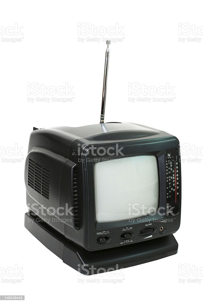 Portable Television Isolated stock photo
