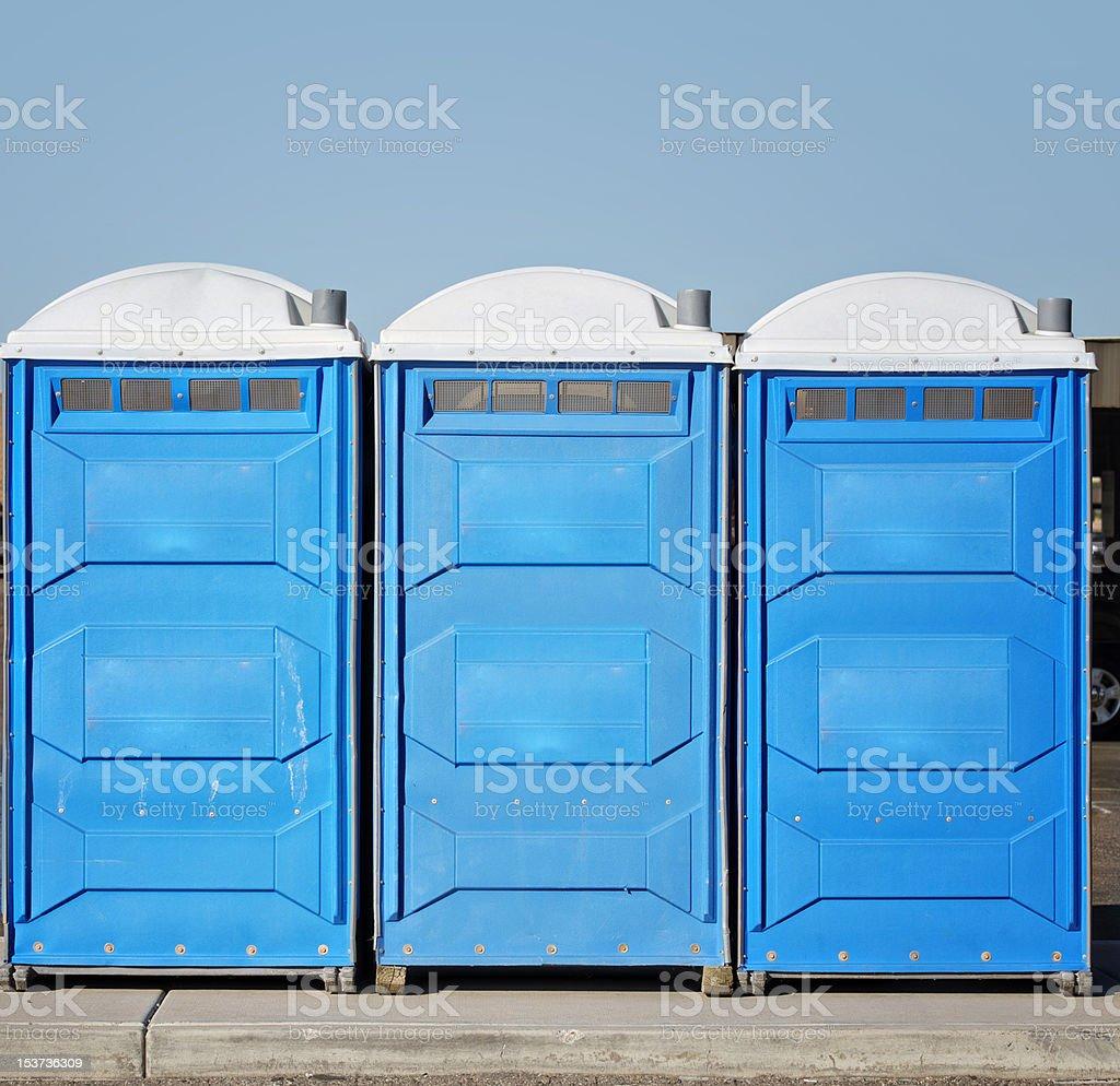 Portable toilet bathroom stock photo