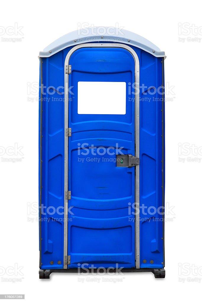 Portable Toilet: Front View stock photo