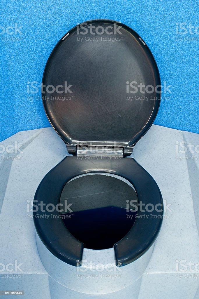 portable toilet stock photo