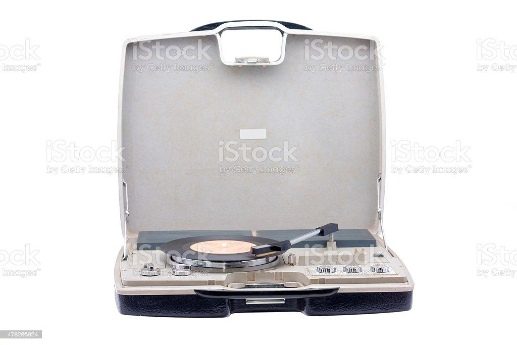 portable turntable stock photo