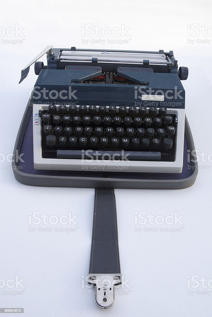 Portable Typwriter - Early Laptop royalty-free stock photo