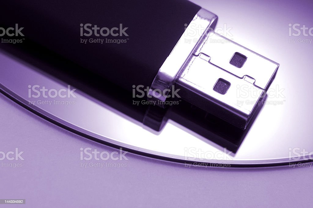 Portable USB drive royalty-free stock photo