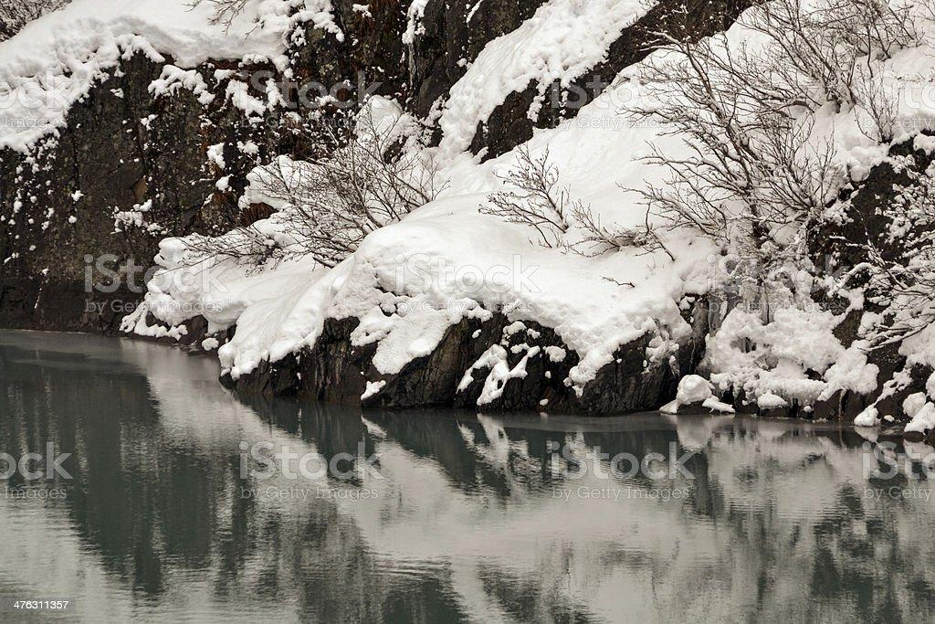 Portage Creek, Chugach National Forest, Alaska stock photo