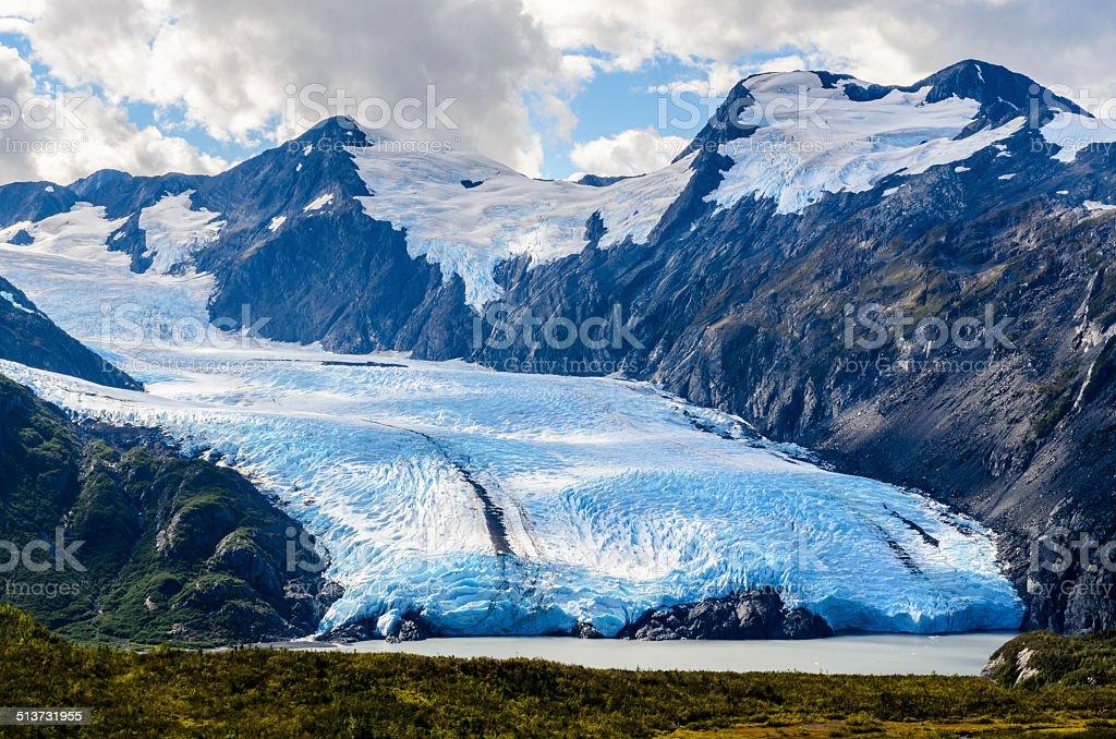 Portage Glacier stock photo