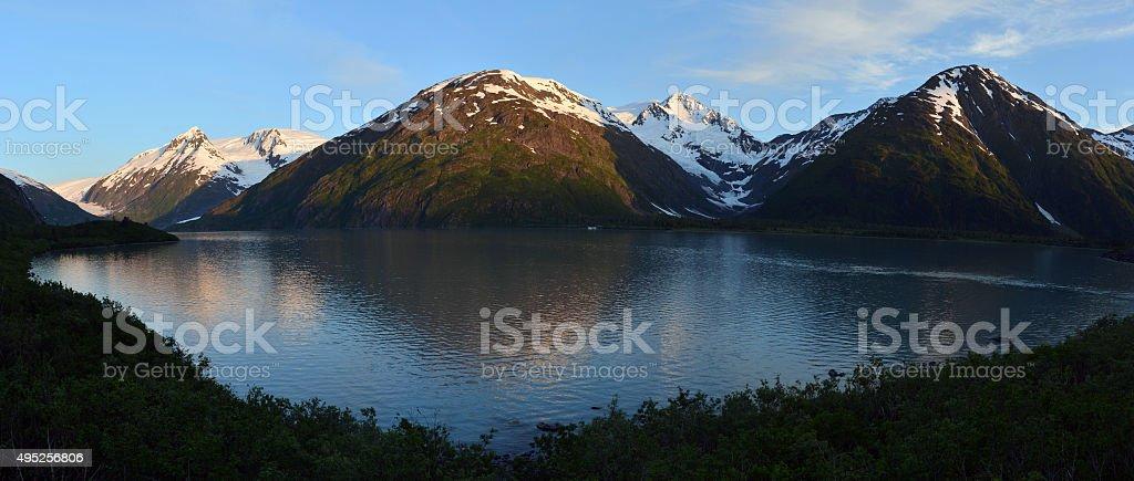 Portage Lake, Alaska stock photo