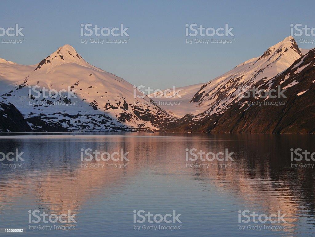 Portage Lake, Alaska, USA stock photo