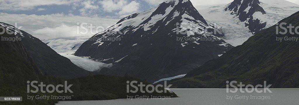 Portage Lake and Glacier stock photo