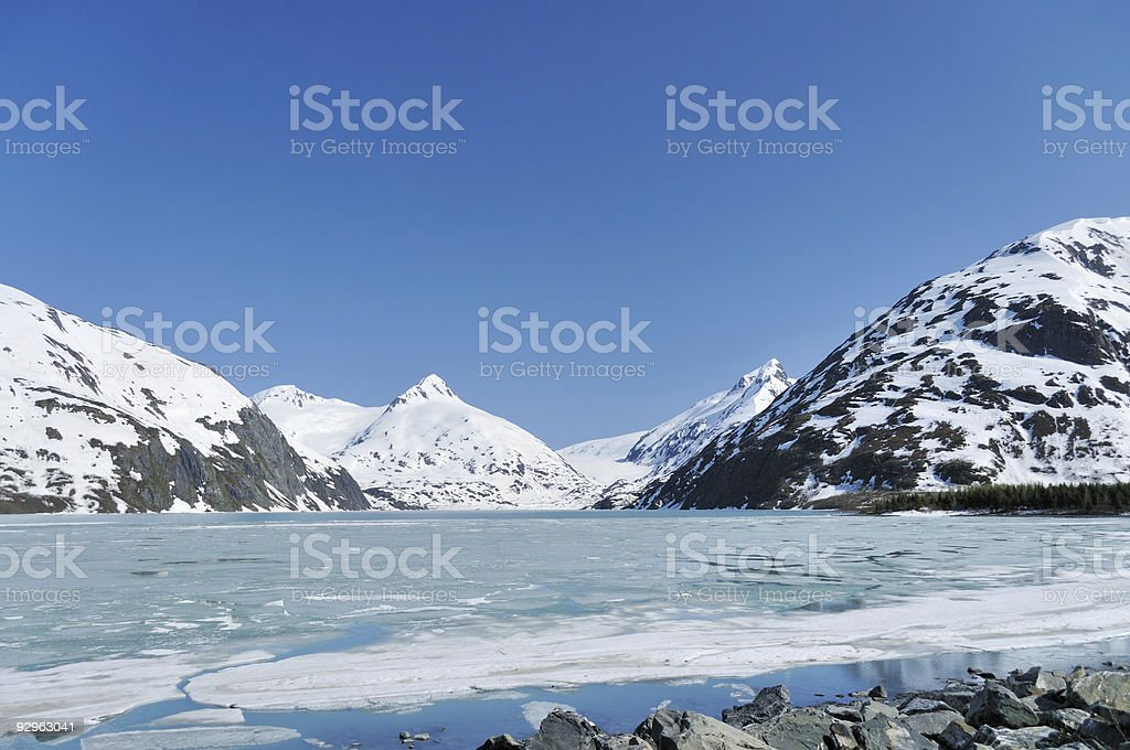 Portage Lake Glacier stock photo