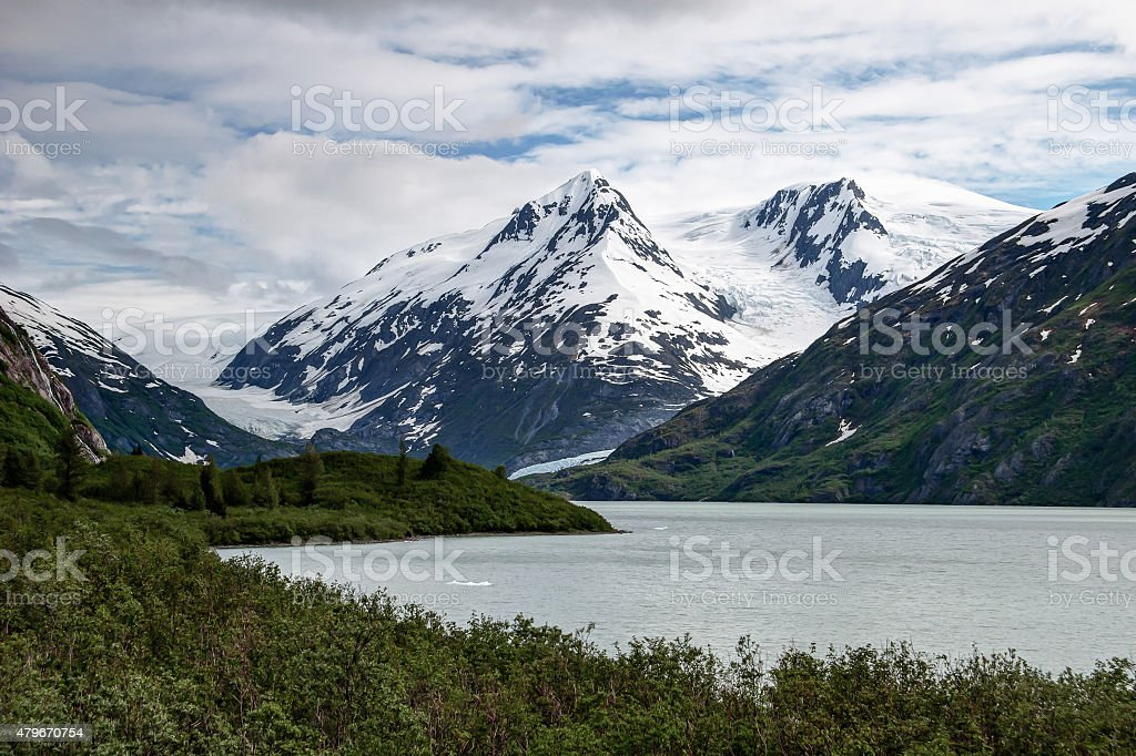 Portage Lake, Glaciers stock photo