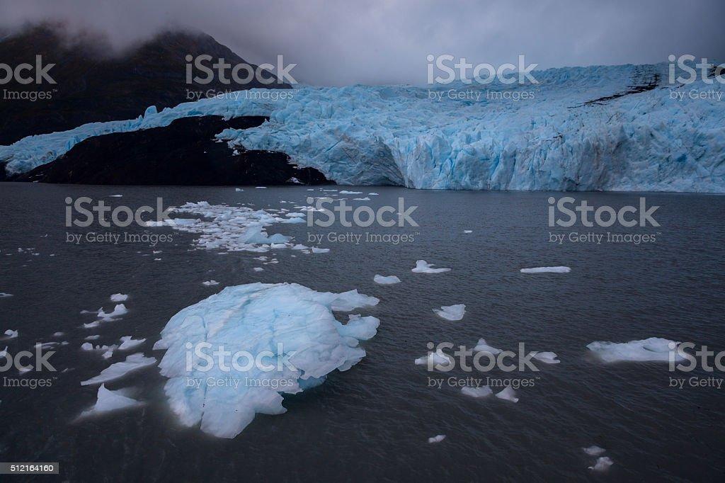 Portage Lake Ice stock photo
