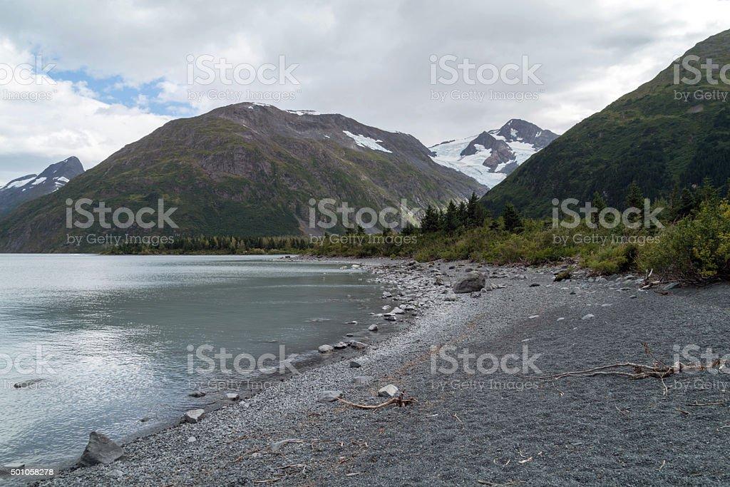 Portage Lake in Alaska stock photo