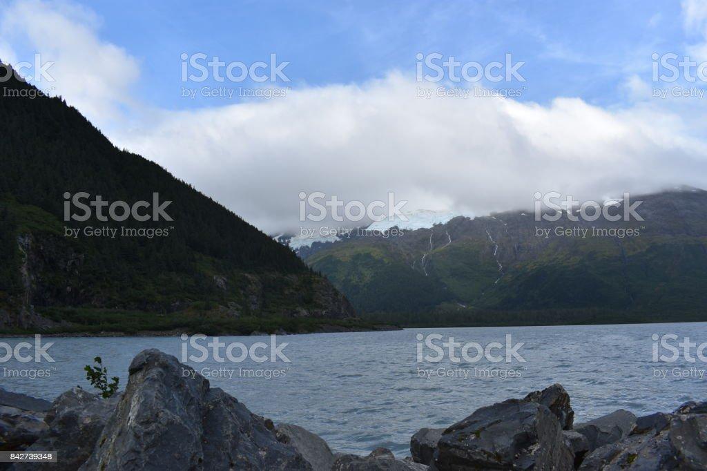 Portage Lake stock photo