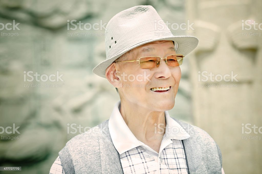 Portaint of a senior man stock photo