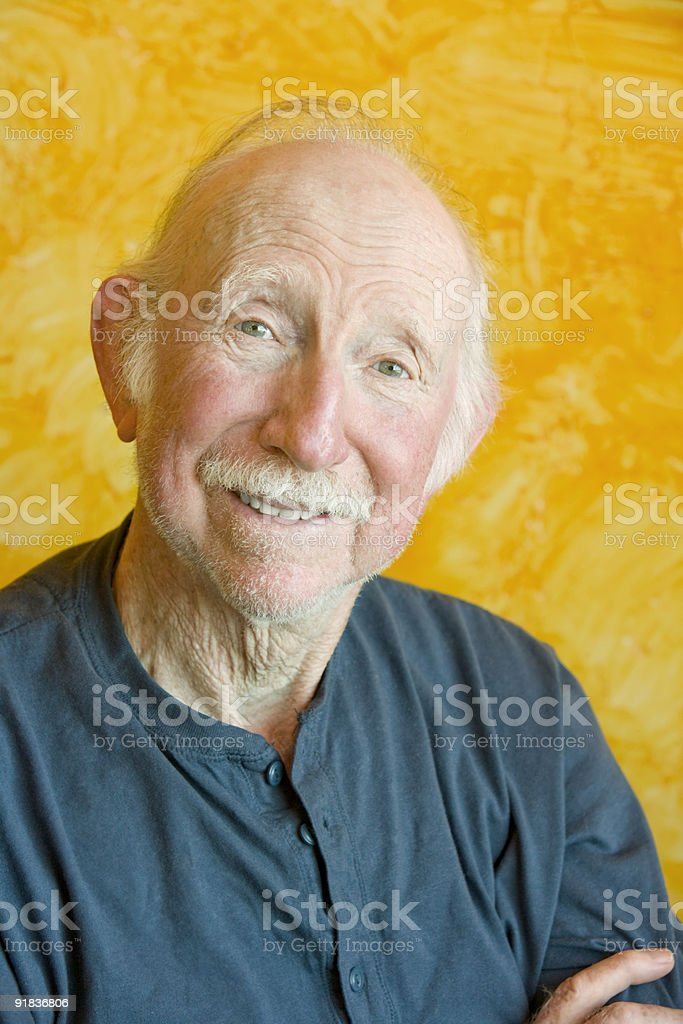 Portait of an Elderly Man stock photo