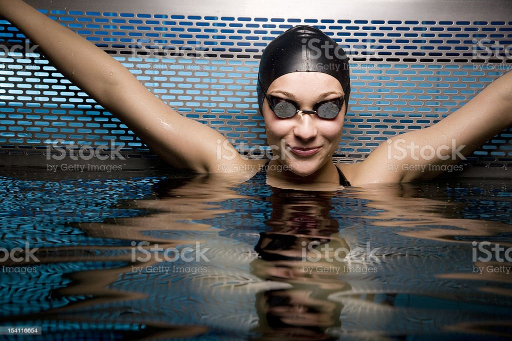 Portait of female swimmer royalty-free stock photo