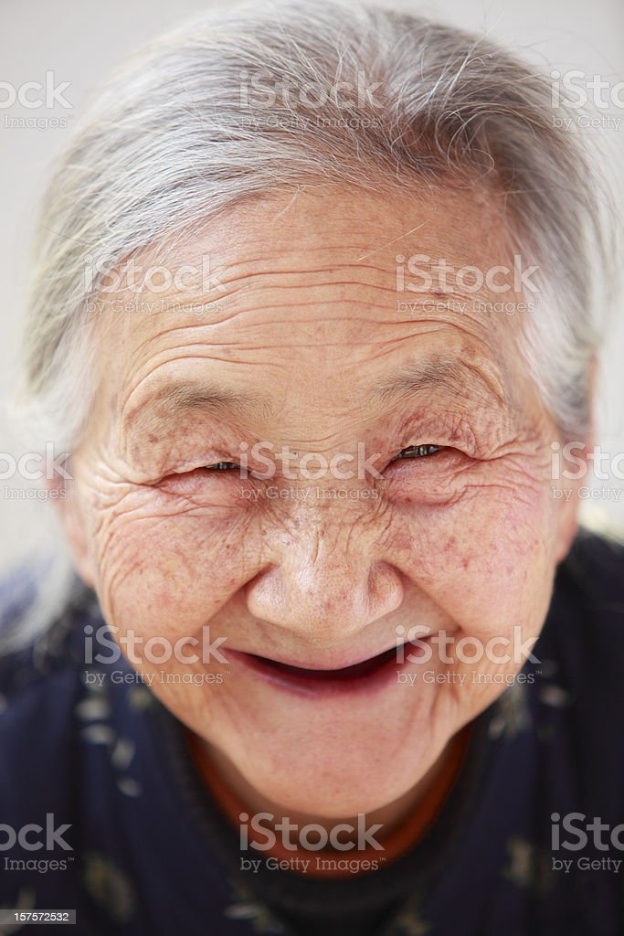 portait of happy grandmother royalty-free stock photo