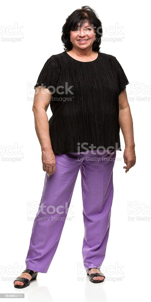 Portait of Happy Standing Woman royalty-free stock photo