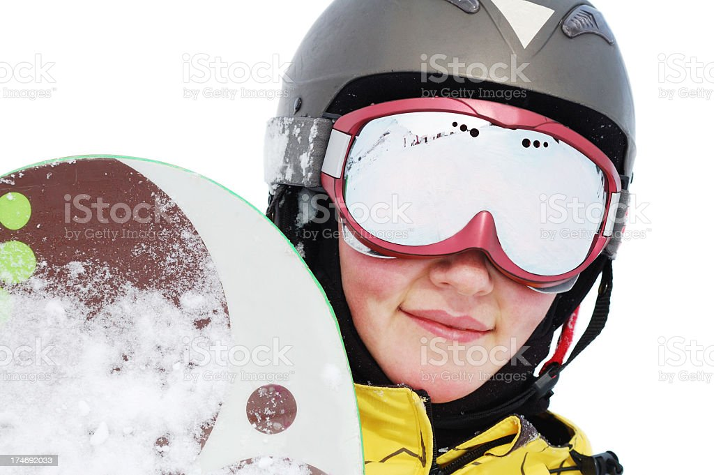 portait of snowboarder royalty-free stock photo