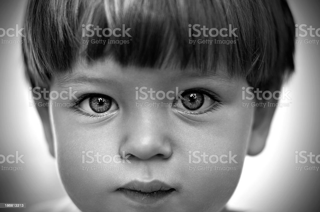 Portait of young boy royalty-free stock photo