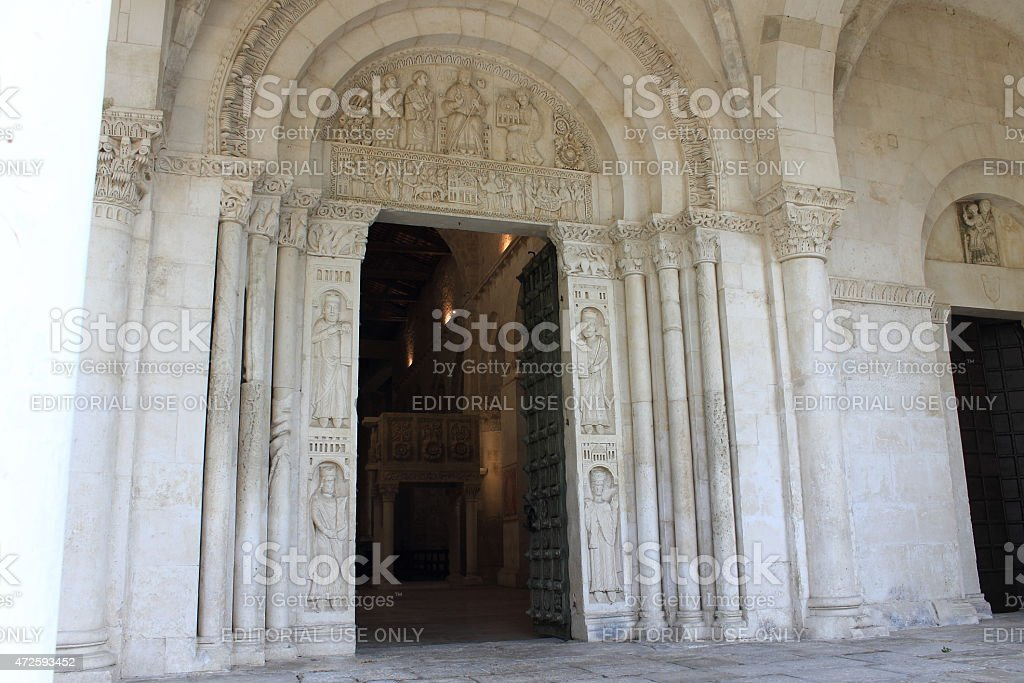 Portal of St. Clement's Abbey stock photo
