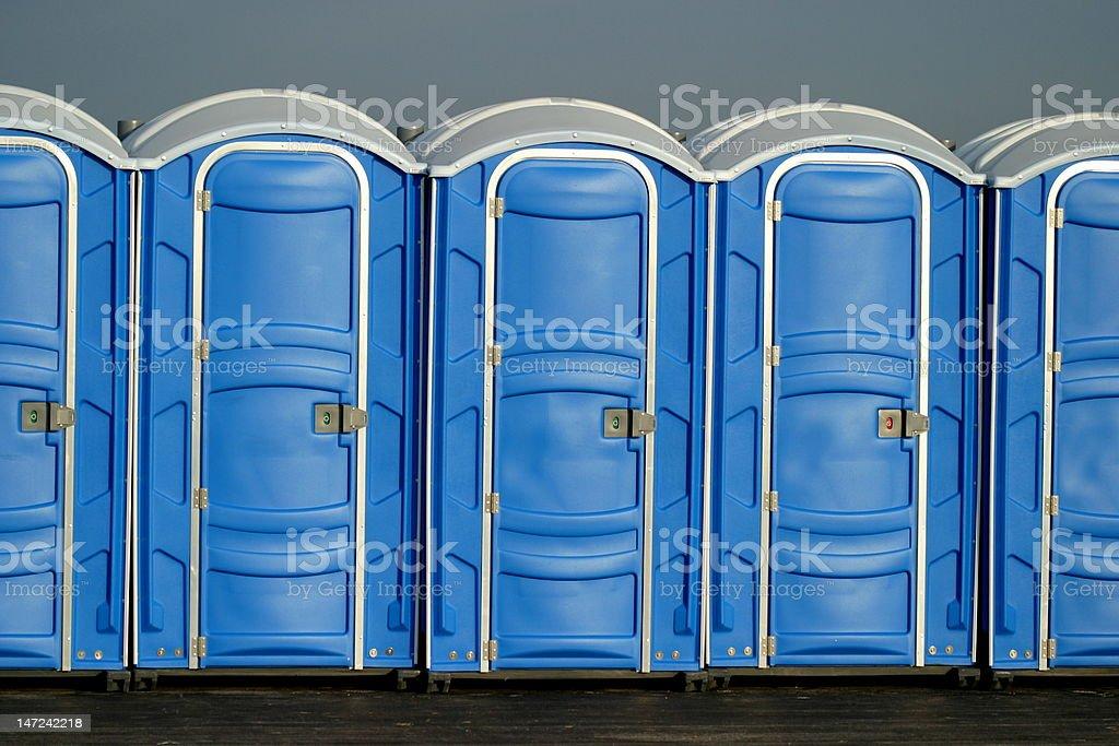 Portapotty stock photo