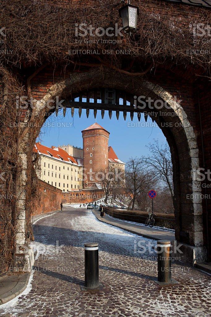 Portcullis - Wawel Castle - Krakow - Poland stock photo