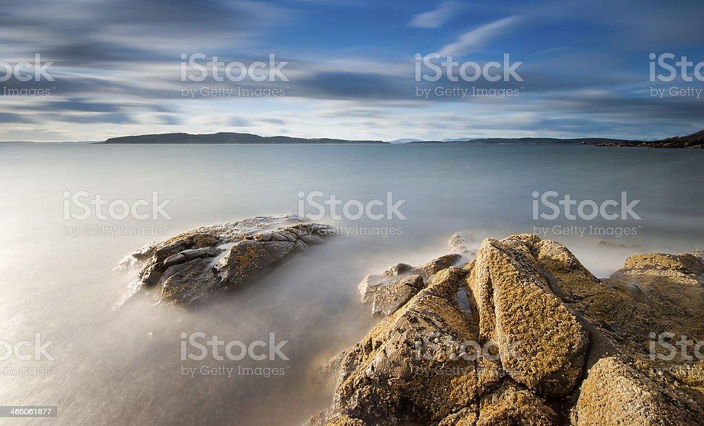 Portencross Coastline, Scotland. stock photo