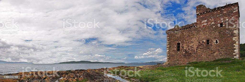 Portencross Panorama stock photo