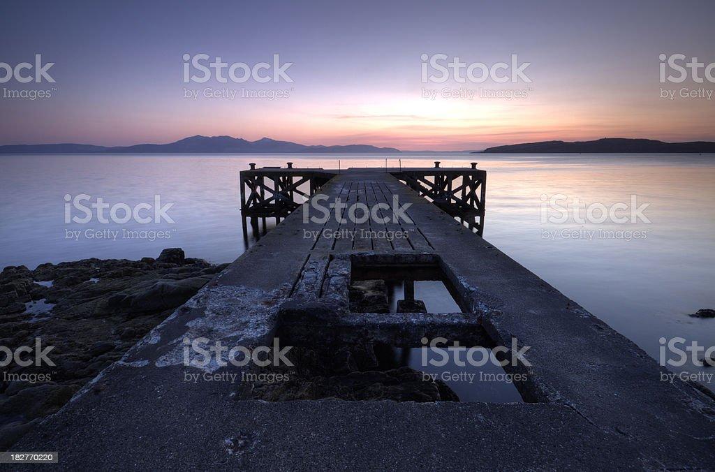 Portencross Pier, Ayrshire, Scotland. stock photo