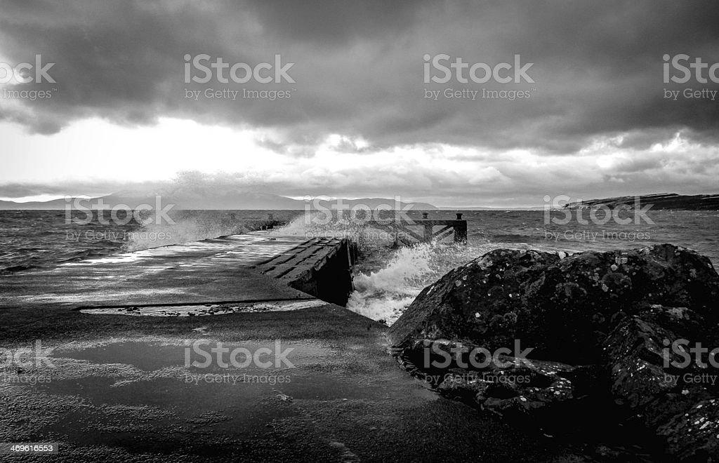Portencross pier ayrshire scotland stock photo