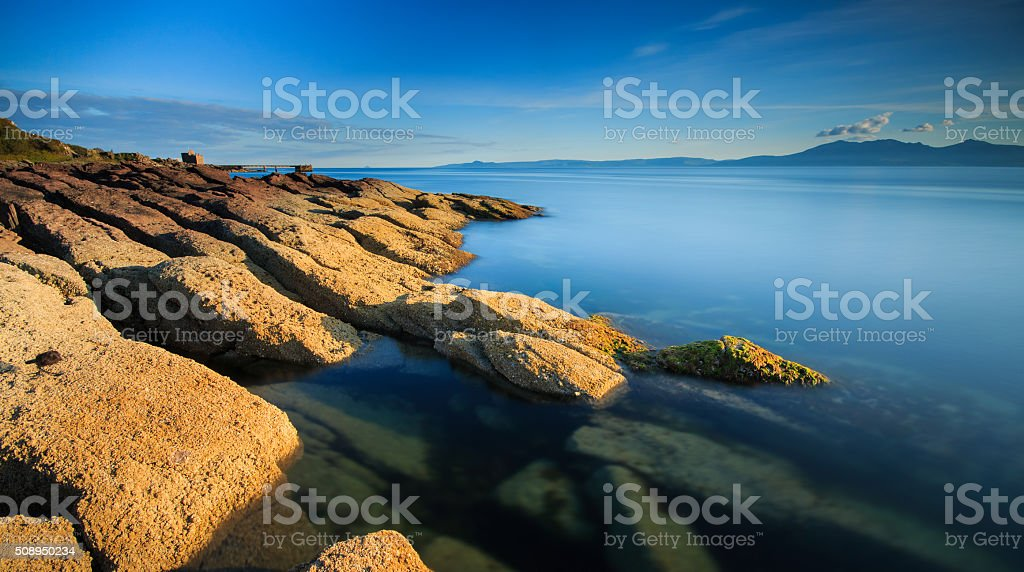 Portencross Sunset stock photo