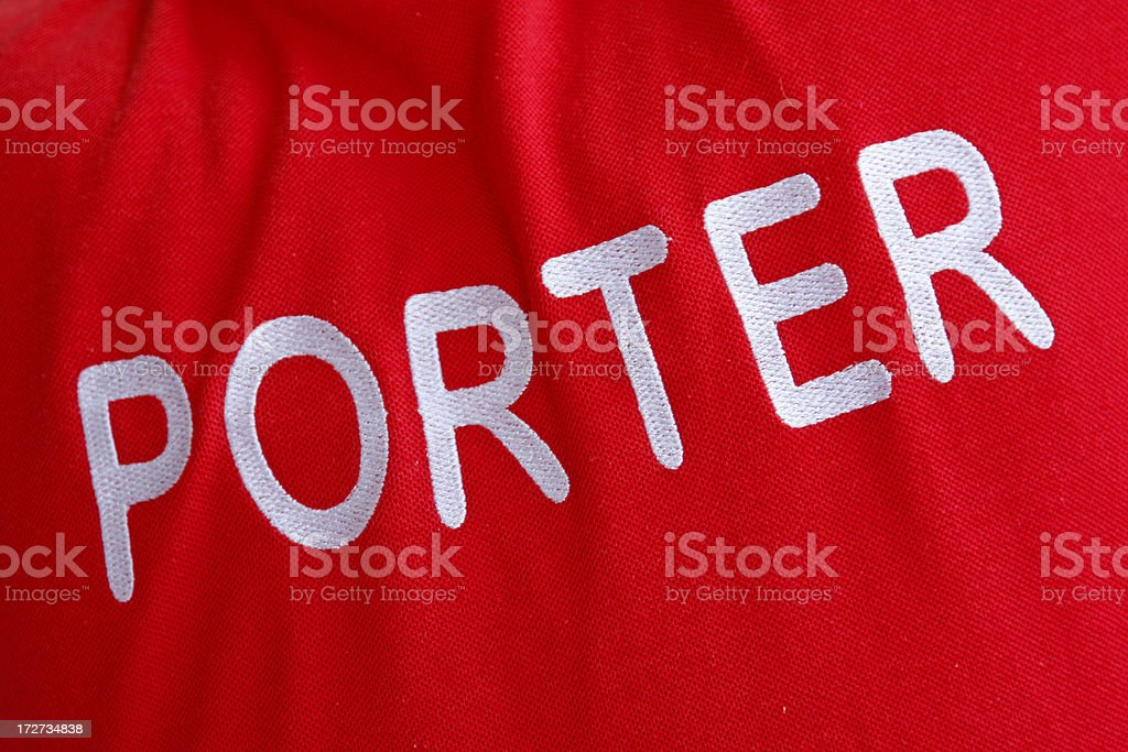 Porter at the airport royalty-free stock photo