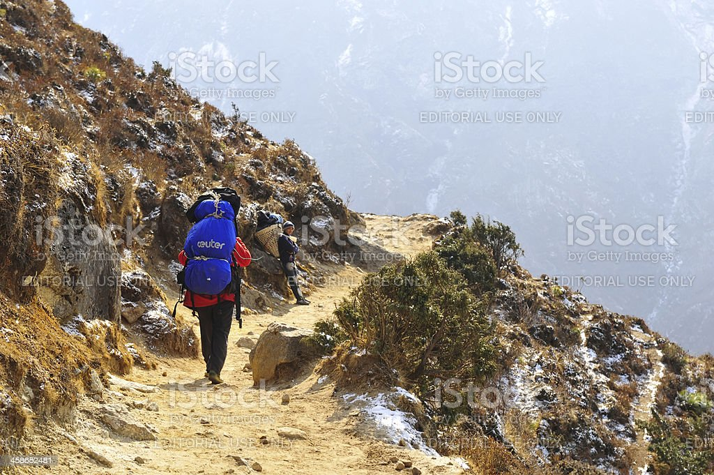 porter in nepal royalty-free stock photo