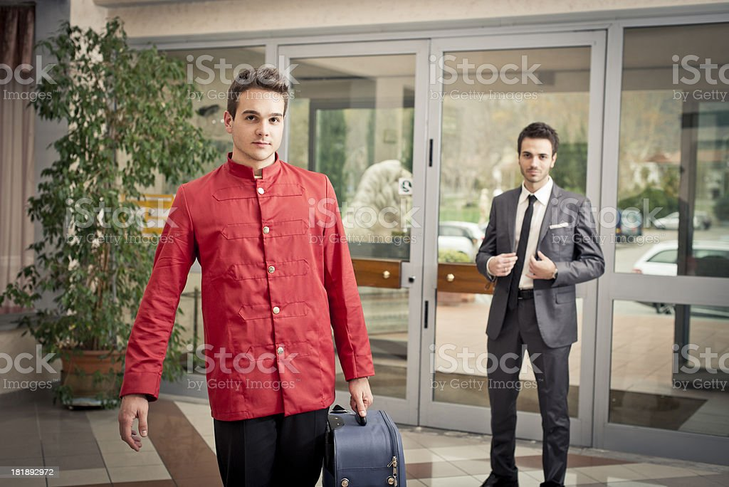 Porter in the hall royalty-free stock photo
