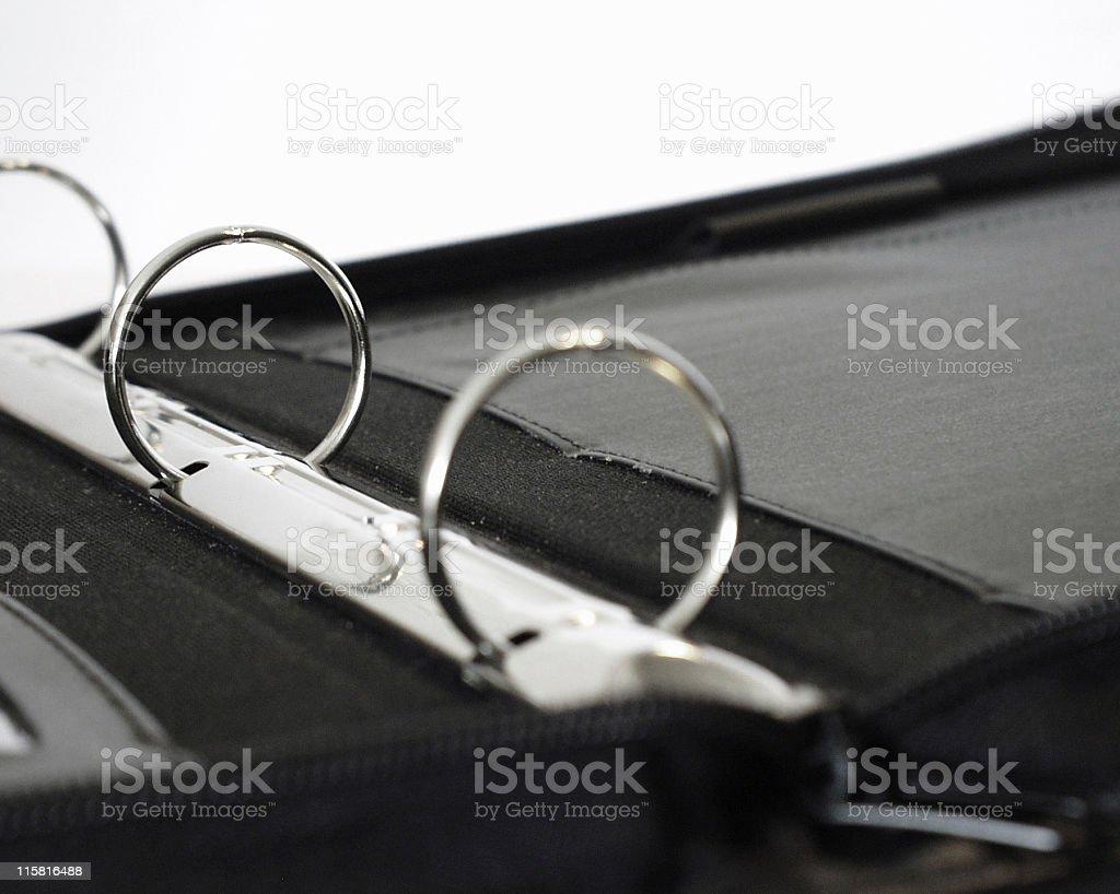 Portfolio open stock photo