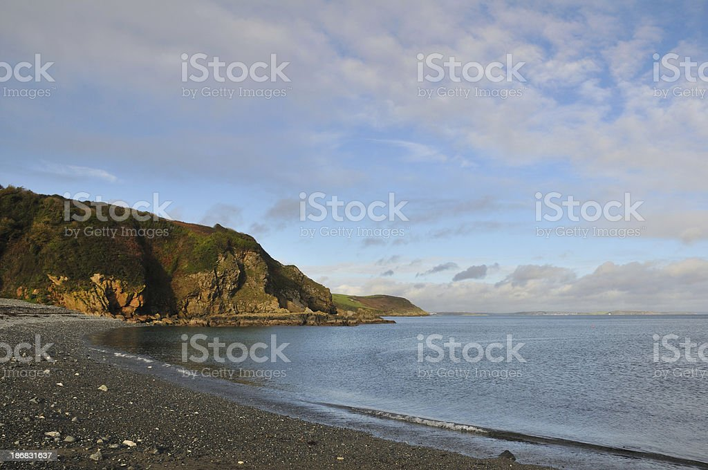 Porthallow beach stock photo