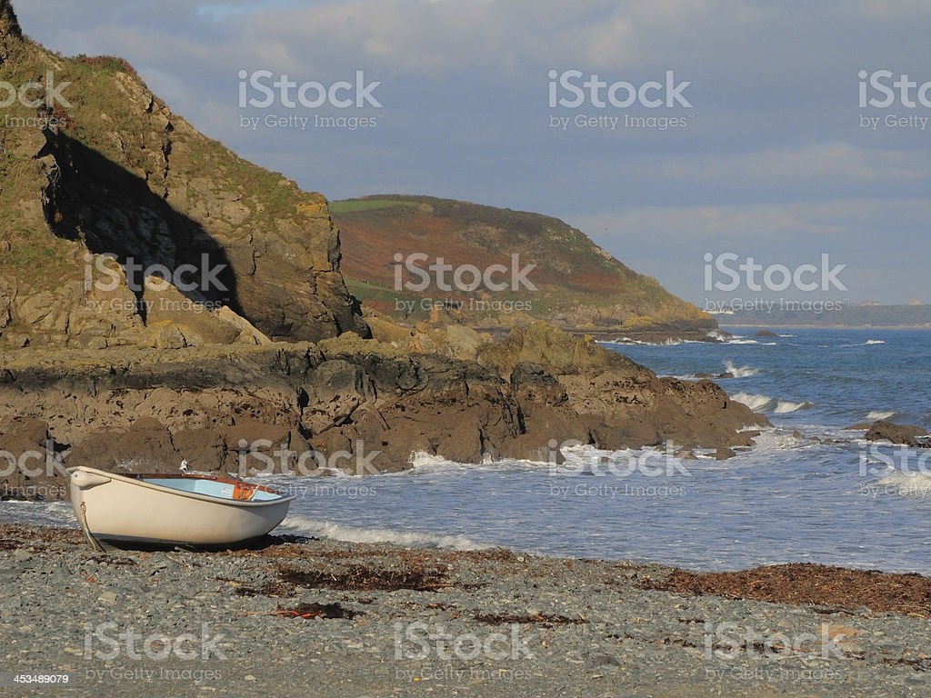 Porthallow beach. stock photo