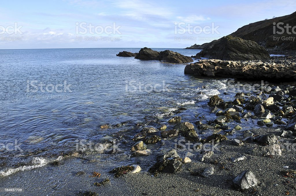 Porthallow, Cornwall. stock photo