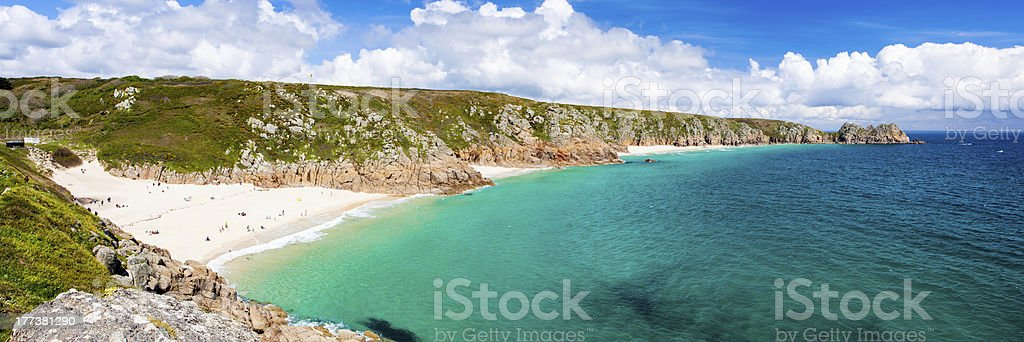 Porthcurno Cornwall Angleterre photo libre de droits