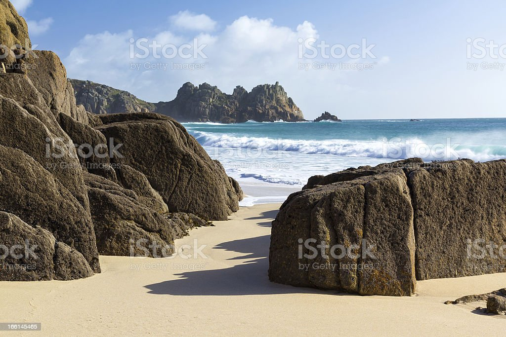 Porthcurno Cornwall photo libre de droits