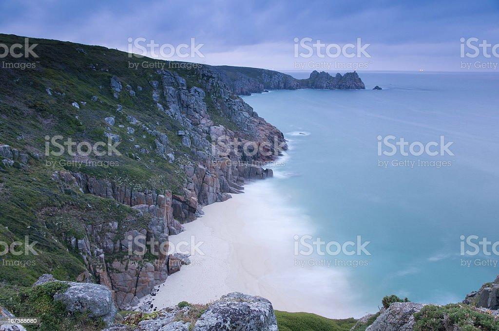 Porthcurno Cornwall royalty-free stock photo