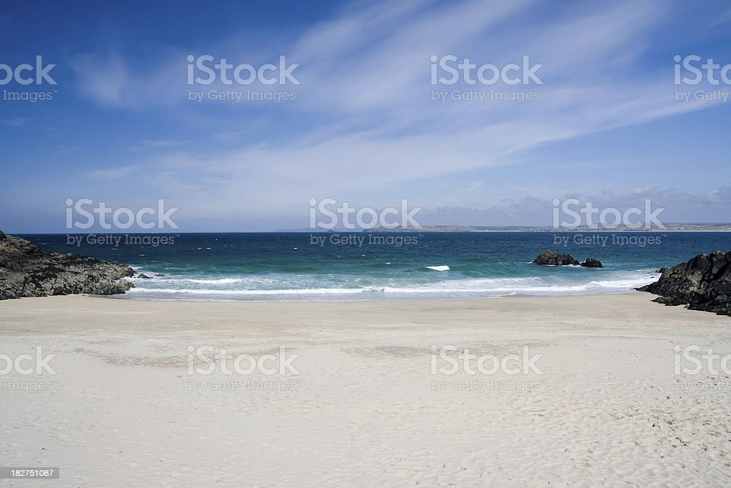 Porthgwidden beach in St Ives on coast of Cornwall stock photo