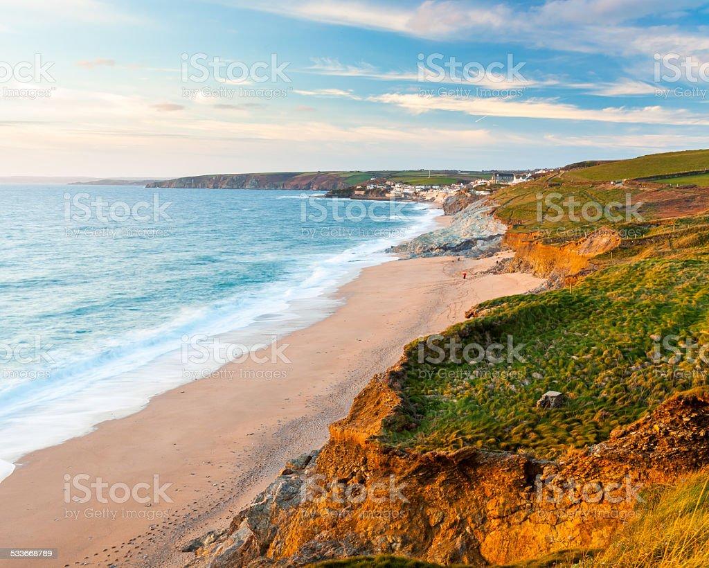 Porthleven Coast stock photo